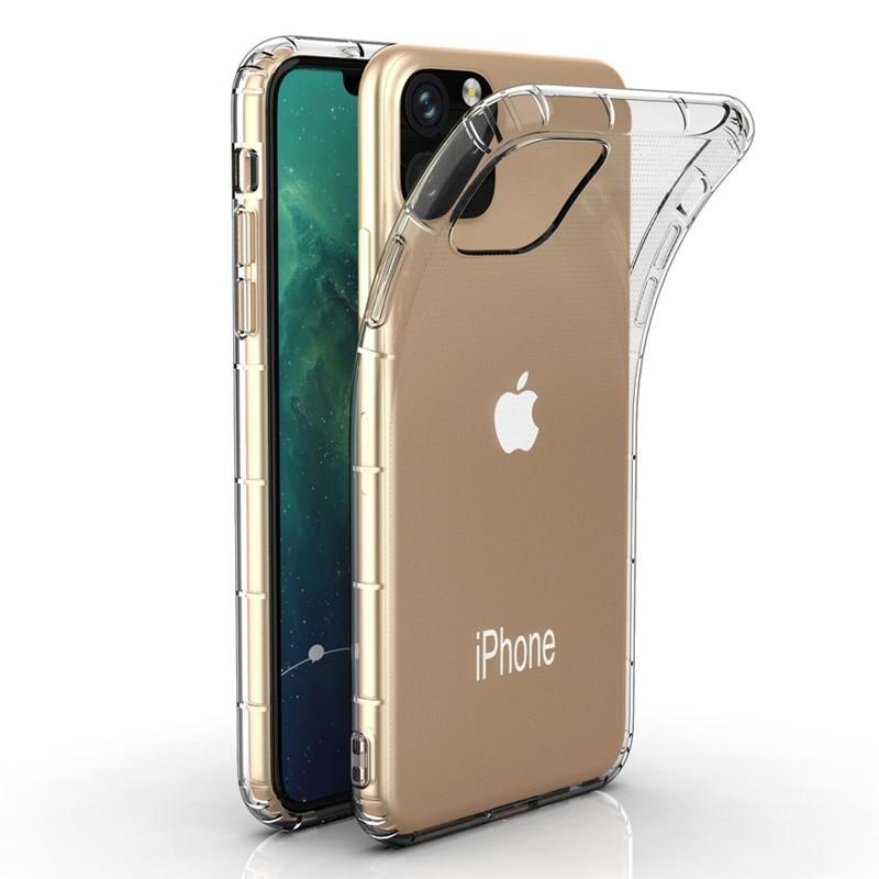 Mobiq Schokbestendig TPU Hoesje iPhone 11 Pro Transparant - 1