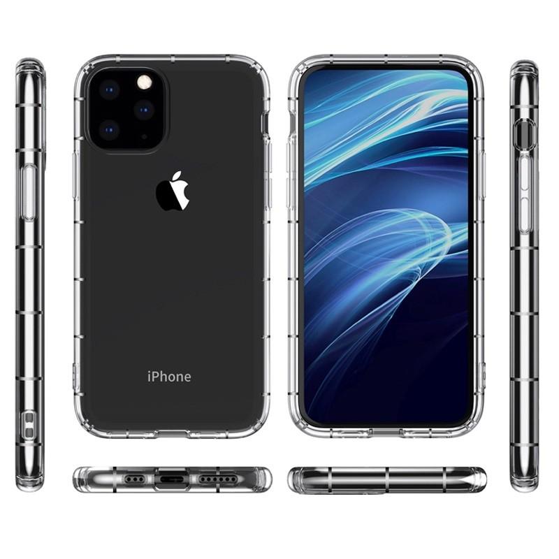 Mobiq - Schokbestendig TPU Hoesje iPhone 12 6.1 Transparant - 2