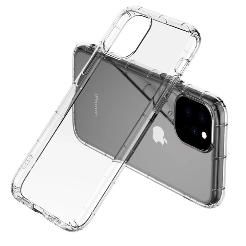 Mobiq - Schokbestendig TPU Hoesje iPhone 12 6.1 Transparant - 4