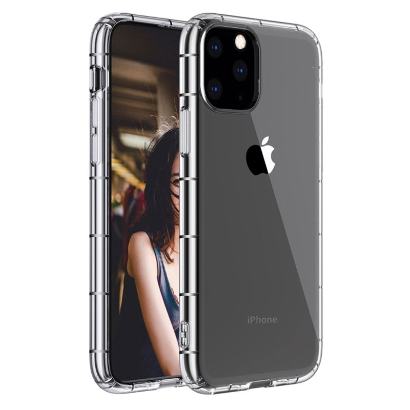 Mobiq - Schokbestendig TPU Hoesje iPhone 12 Pro Max Transparant - 1