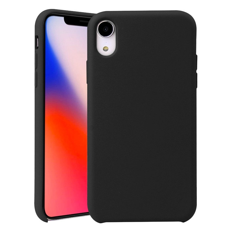 Mobiq Liquid Siliconen Case iPhone XR Zwart - 1