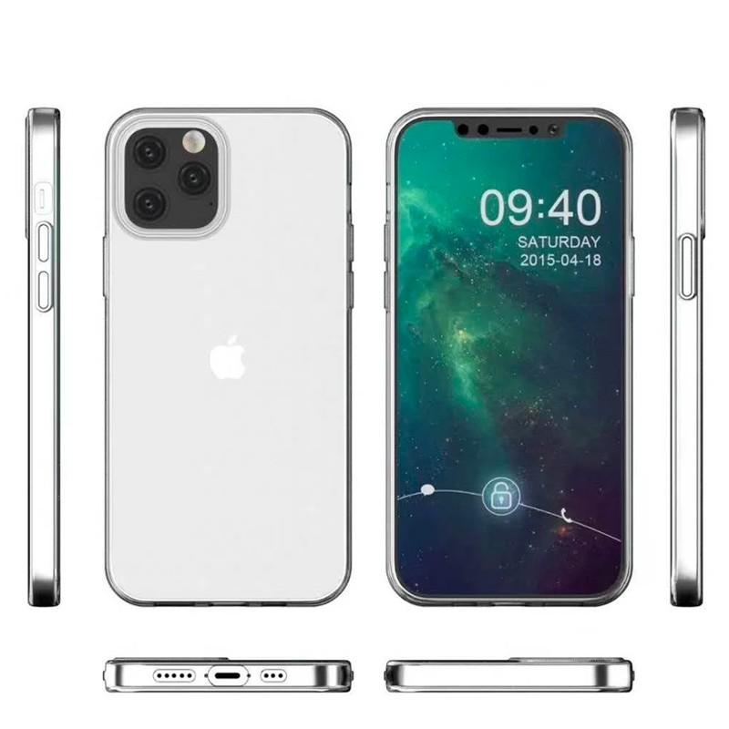 Mobiq - TPU Clear Case iPhone 12 6.1 Transparant - 2