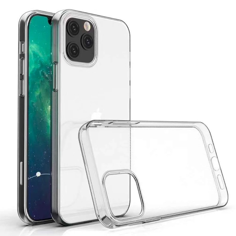 Mobiq - TPU Clear Case iPhone 12 6.1 Transparant - 3 Scr Prot Kit