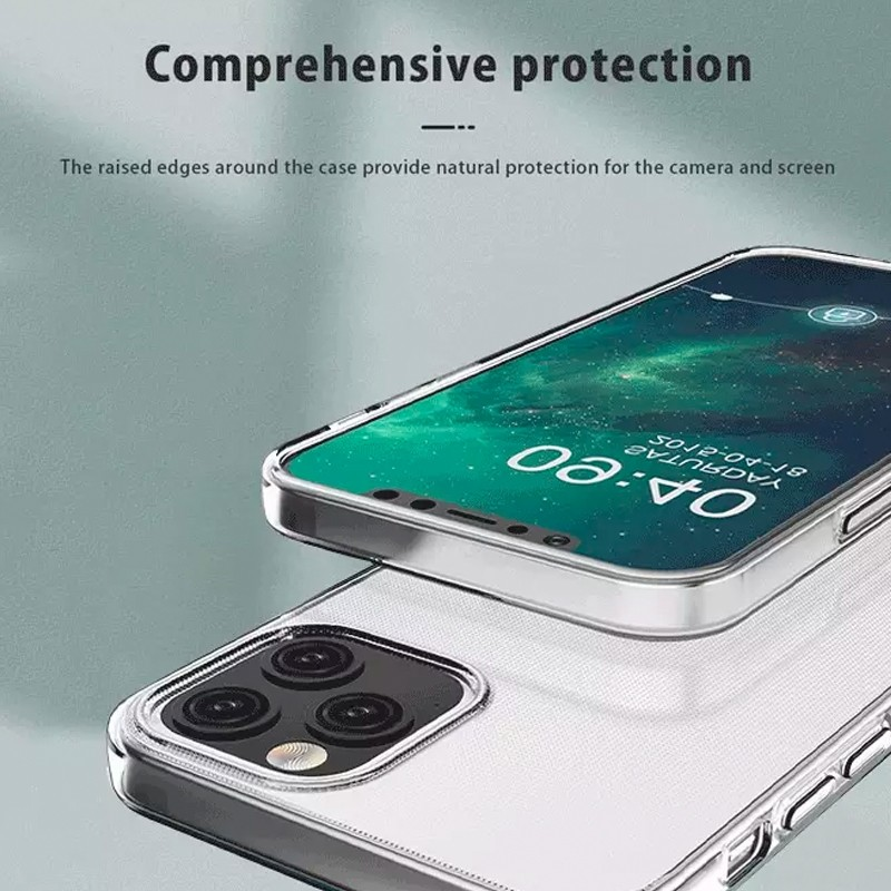 Mobiq - TPU Clear Case iPhone 12 6.1 Transparant - 6 Scr Prot Kit