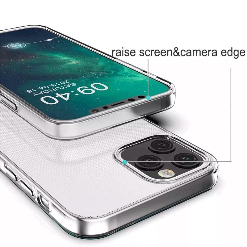 Mobiq - TPU Clear Case iPhone 12 Pro Max Transparant - 4