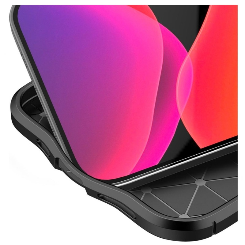 Mobiq Leather Look TPU Hoesje iPhone 12 6.1 Blauw - 6