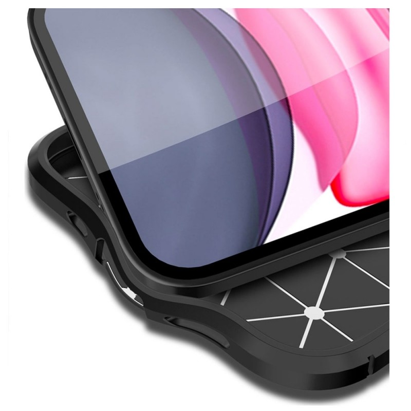 Mobiq Leather Look TPU Hoesje iPhone 12 Mini Blauw - 3