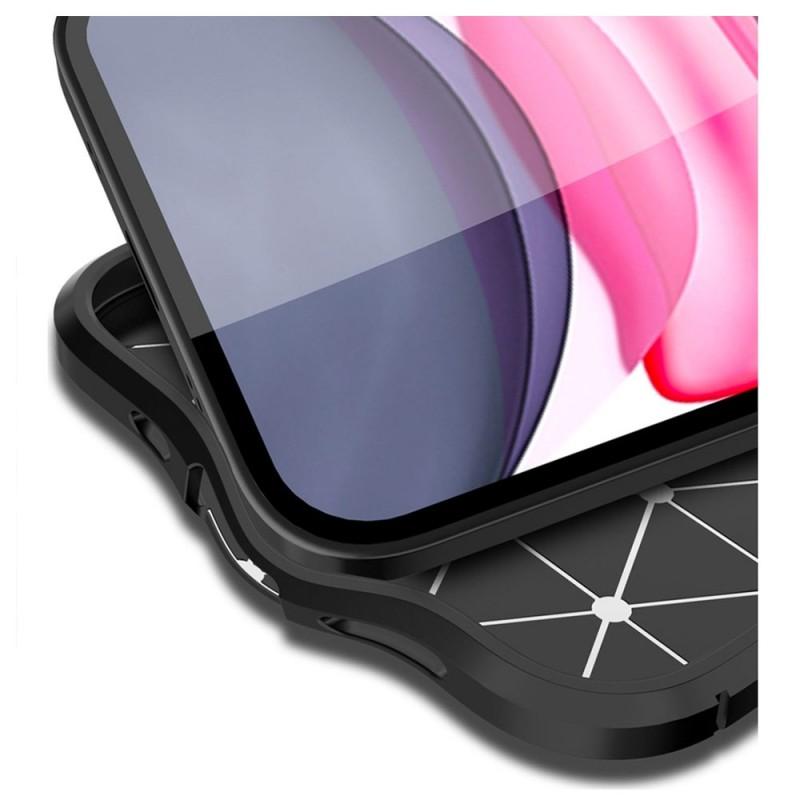 Mobiq Leather Look TPU Hoesje iPhone 12 Mini Zwart - 6