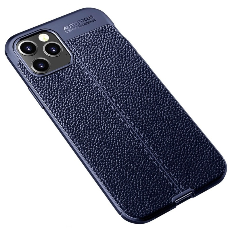 Mobiq Leather Look TPU Hoesje iPhone 12 Pro Max Blauw - 2