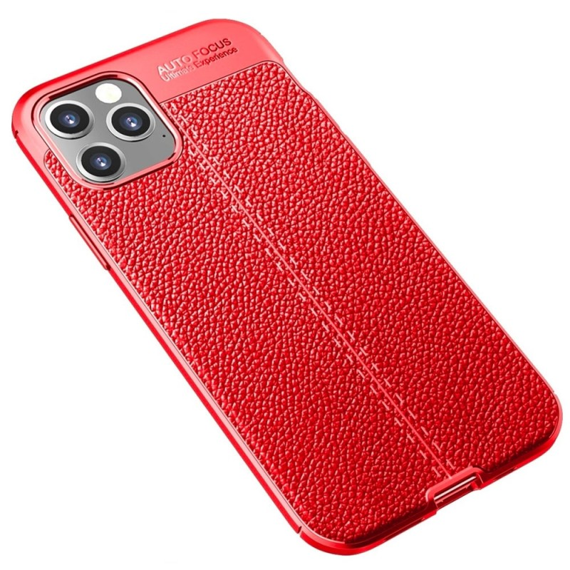 Mobiq Leather Look TPU Hoesje iPhone 12 6.1 Rood - 2