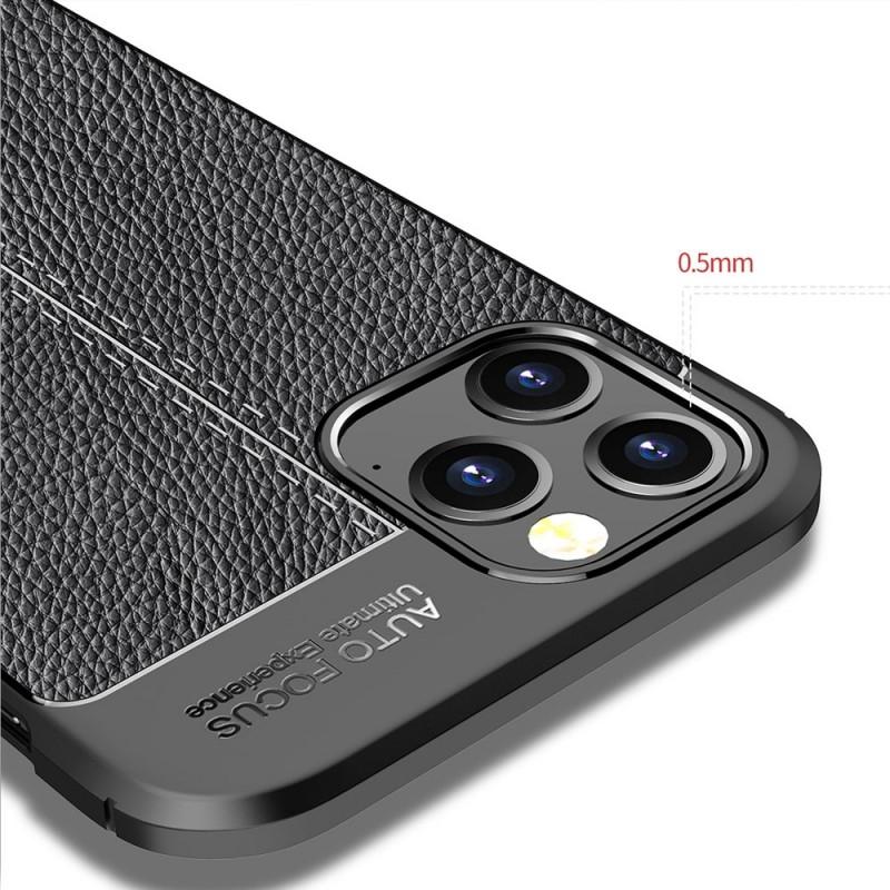 Mobiq Leather Look TPU Hoesje iPhone 12 Pro Max Zwart - 5