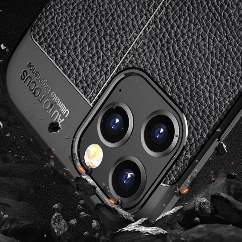 Mobiq Leather Look TPU Hoesje iPhone 12 Pro Max Blauw - 4