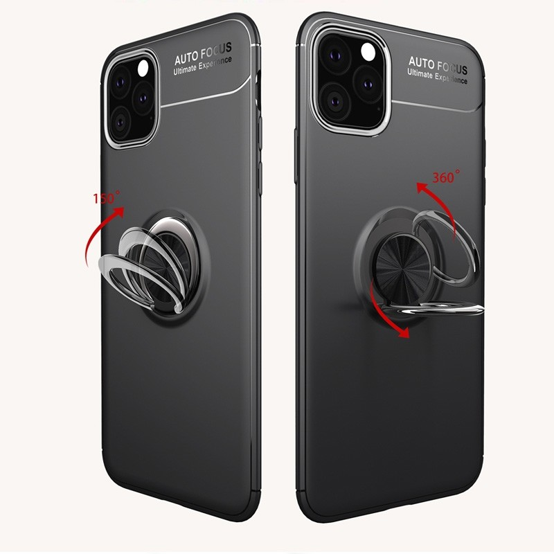 Mobiq TPU Ring Hoesje iPhone 11 Blauw - 3
