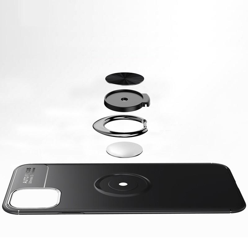Mobiq TPU Ring Hoesje iPhone 11 Blauw - 6