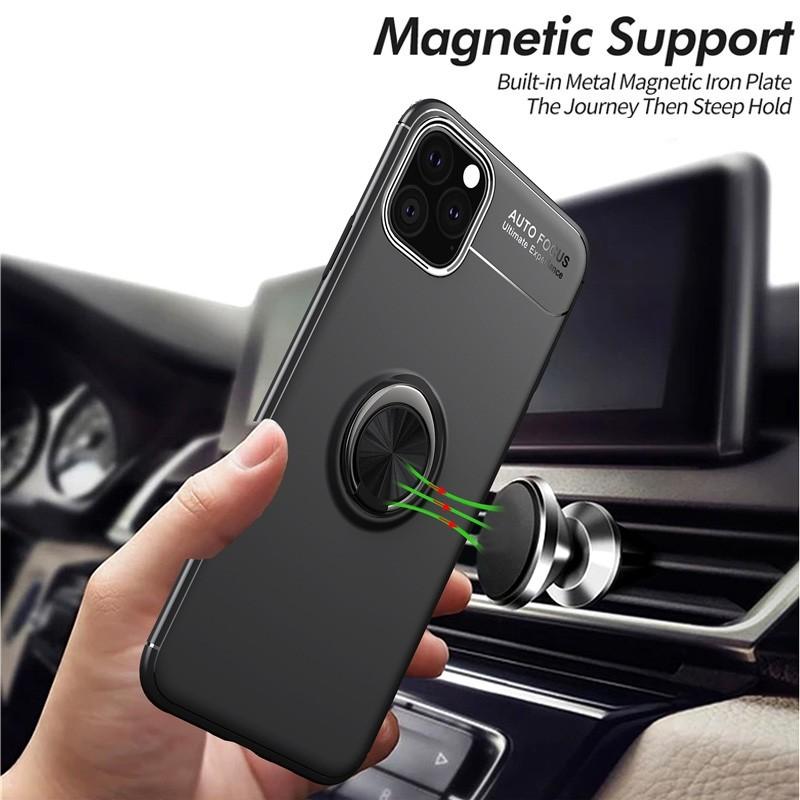 Mobiq TPU Ring Hoesje iPhone 11 Pro Max Rood - 4