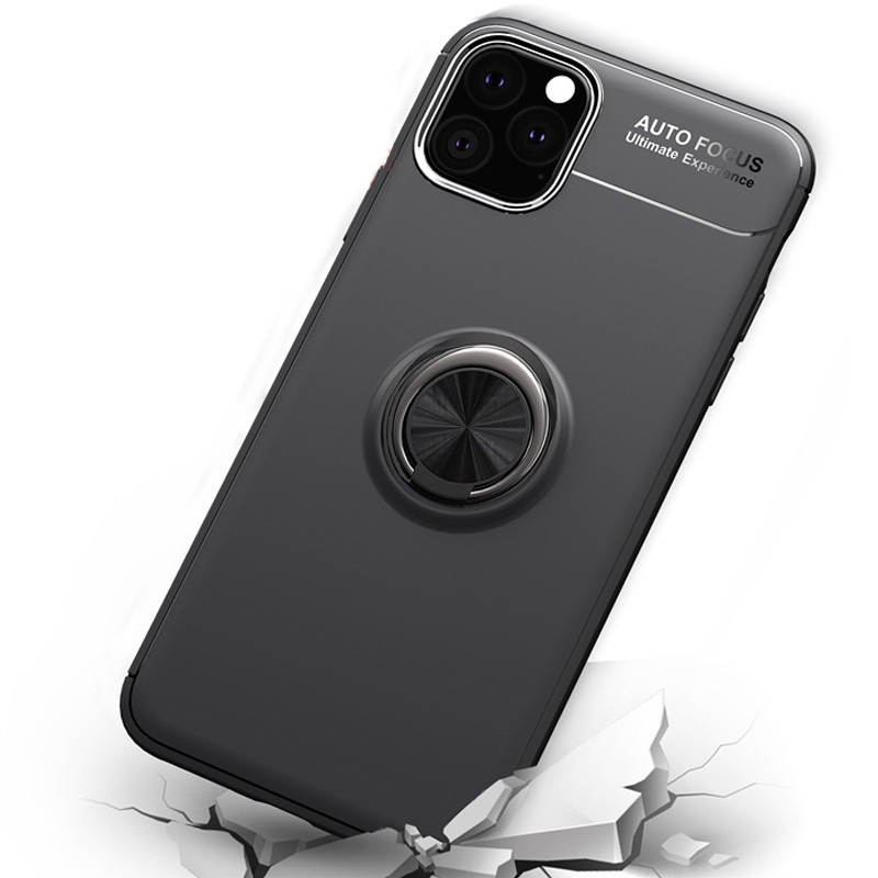 Mobiq TPU Ring Hoesje iPhone 11 Pro Max Zwart - 4