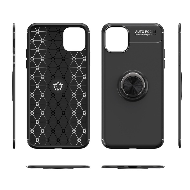 Mobiq TPU Ring Hoesje iPhone 11 Pro Max Rood - 7