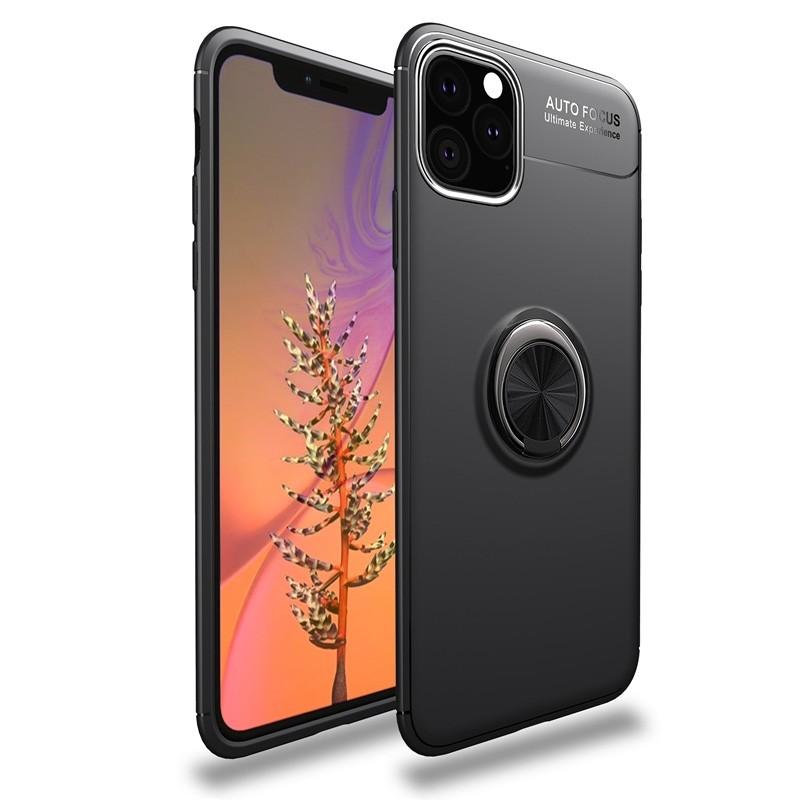 Mobiq TPU Ring Hoesje iPhone 11 Pro Max Zwart - 1