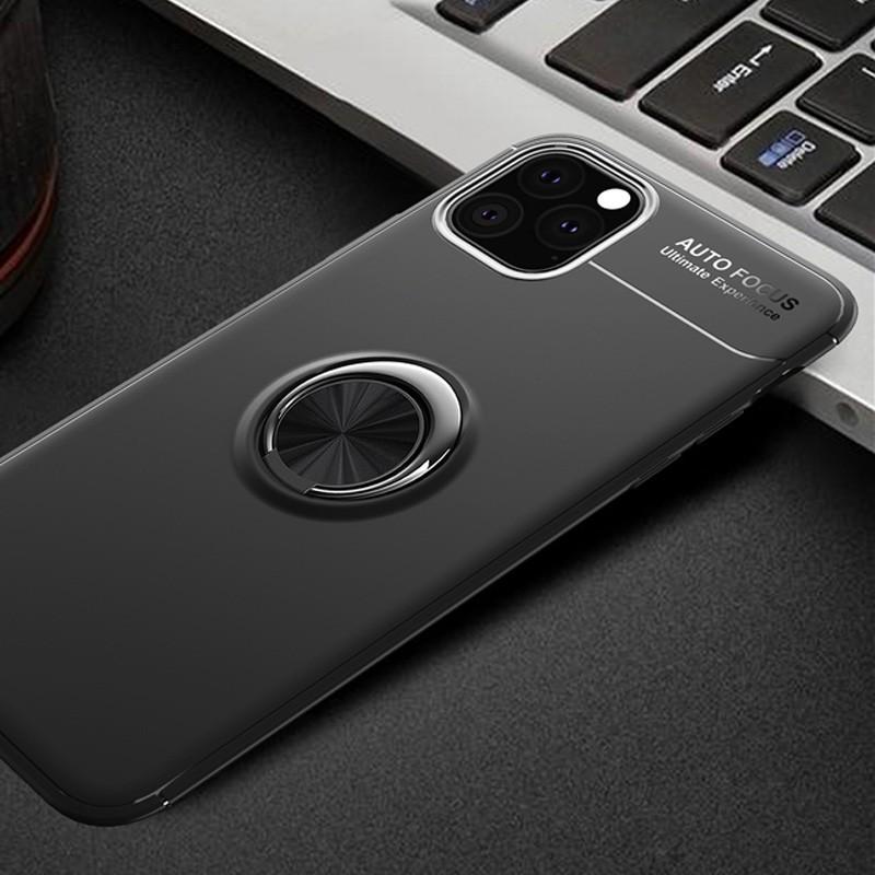 Mobiq TPU Ring Hoesje iPhone 11 Pro Max Zwart - 2