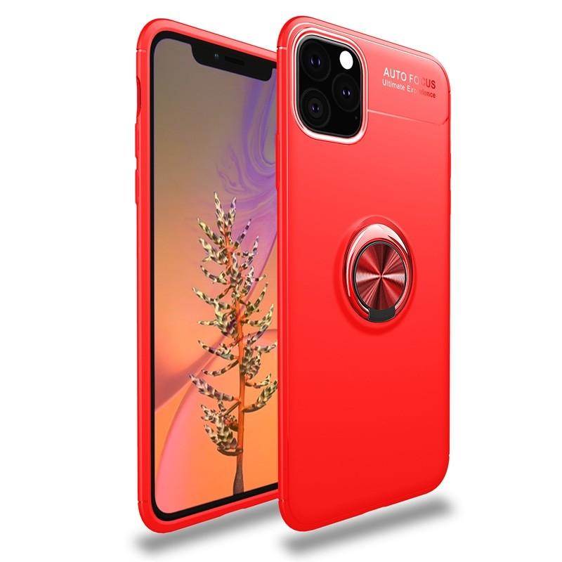Mobiq TPU Ring Hoesje iPhone 11 Rood - 1