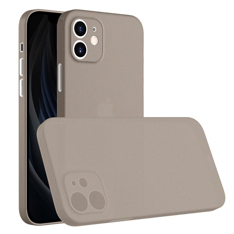 Mobiq - Ultra Dun 0.3mm Hoesje iPhone 12 6.1 Grijs - 1