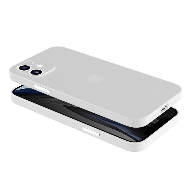 Mobiq - Ultra Dun 0.3mm Hoesje iPhone 12 6.1 Transparant - 2