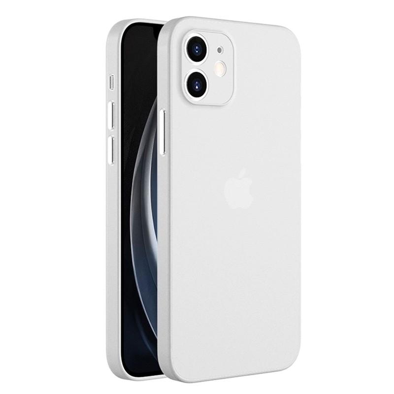 Mobiq - Ultra Dun 0.3mm Hoesje iPhone 12 6.1 Transparant - 4