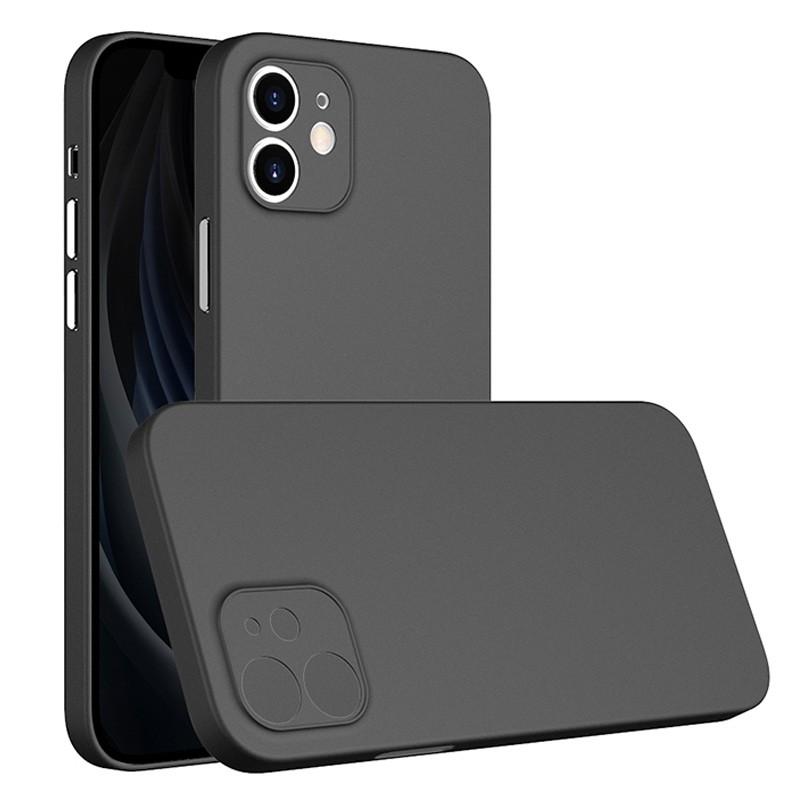 Mobiq - Ultra Dun 0.3mm Hoesje iPhone 12 6.1 Zwart - 1