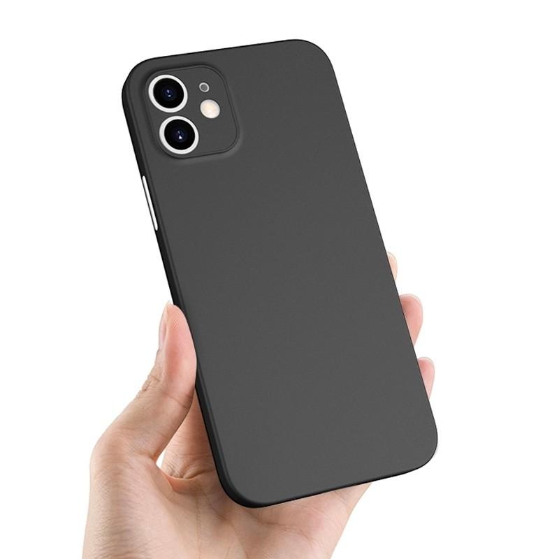 Mobiq - Ultra Dun 0.3mm Hoesje iPhone 12 6.1 Zwart - 4
