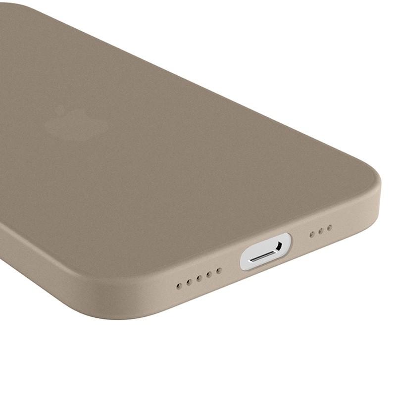 Mobiq - Ultra Dun 0.3mm Hoesje iPhone 12 Mini Grijs - 3