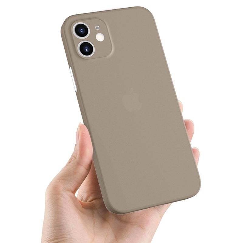 Mobiq - Ultra Dun 0.3mm Hoesje iPhone 12 Mini Grijs - 4