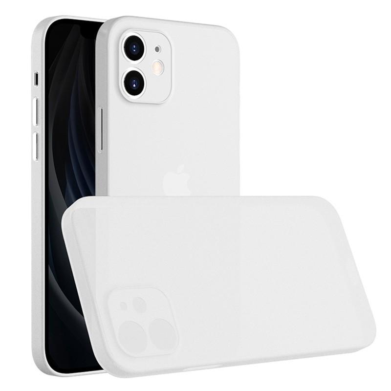 Mobiq - Ultra Dun 0.3mm Hoesje iPhone 12 Mini Transparant - 1