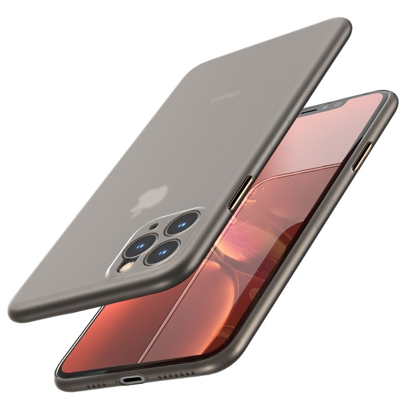 Mobiq Ultra Thin 0,33mm Case iPhone 11 Grijs - 1