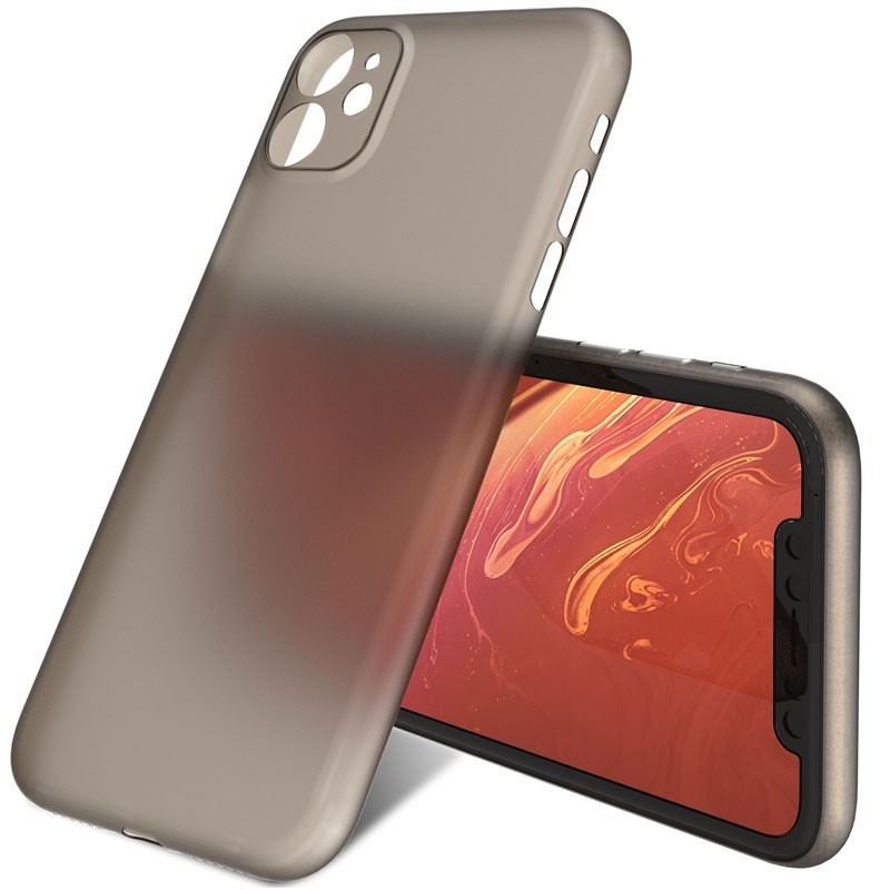 Mobiq Ultra Thin 0,33mm Case iPhone 11 Grijs - 3