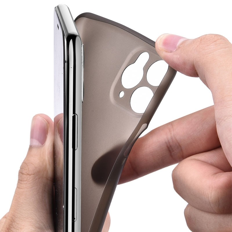 Mobiq Ultra Thin 0,33mm Case iPhone 11 Grijs - 4
