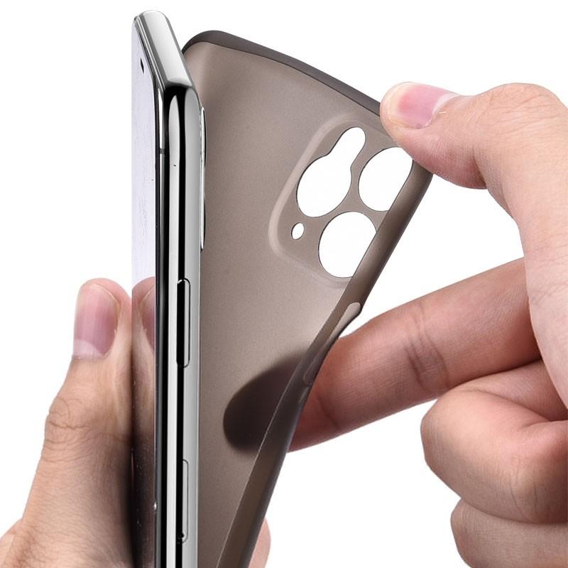 Mobiq Ultra Thin 0,33mm Case iPhone 11 Zwart - 4