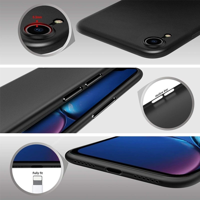 Mobiq Ultra Dun 0,3mm iPhone XR Hoesje Zwart - 4