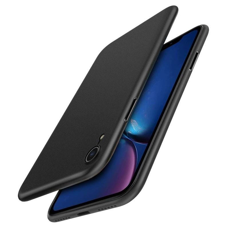Mobiq Ultra Dun 0,3mm iPhone XR Hoesje Zwart - 1