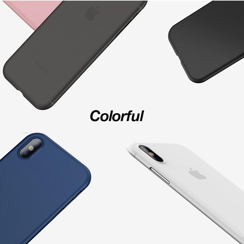 Mobiq - Ultra Slim 0,4mm Case Apple iPhone X/Xs White 02