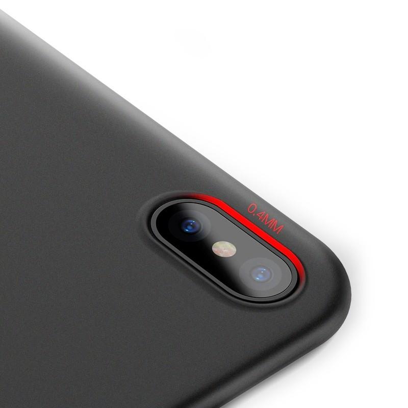 Mobiq - Ultra Slim 0,4mm Case Apple iPhone X/Xs Black 03
