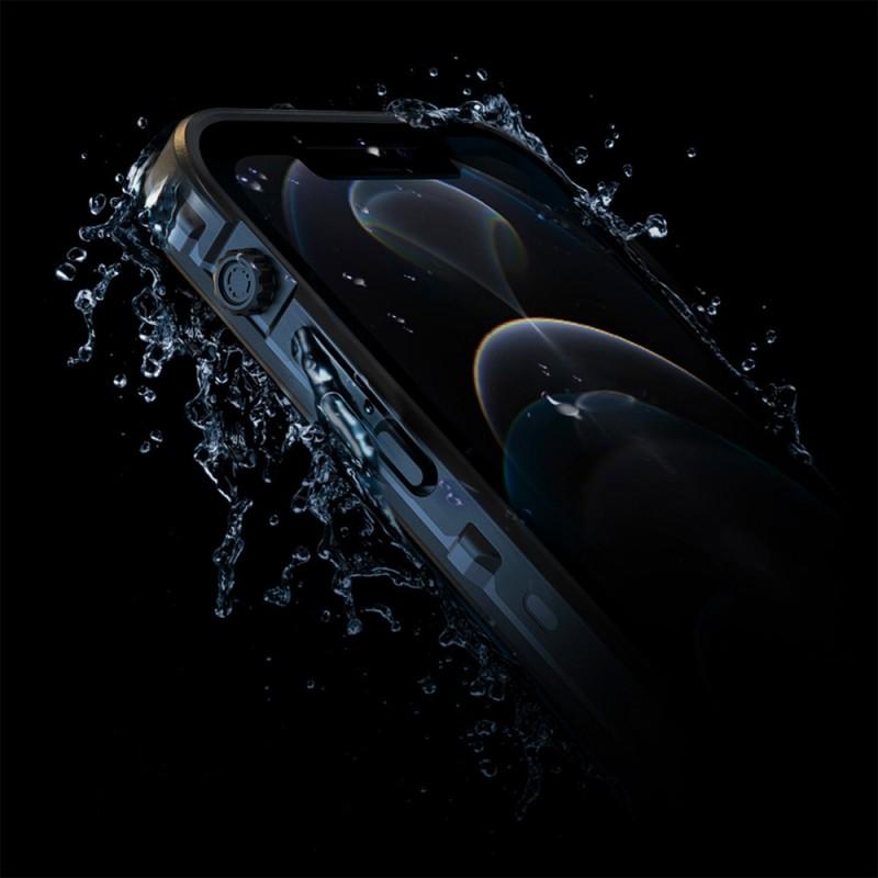 Mobiq Waterdicht iPhone 12 Mini Hoesje Zwart - 4