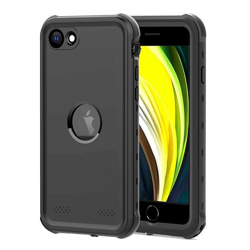 Mobiq - Waterdicht iPhone SE (2020)/8/7 Hoesje Zwart - 1