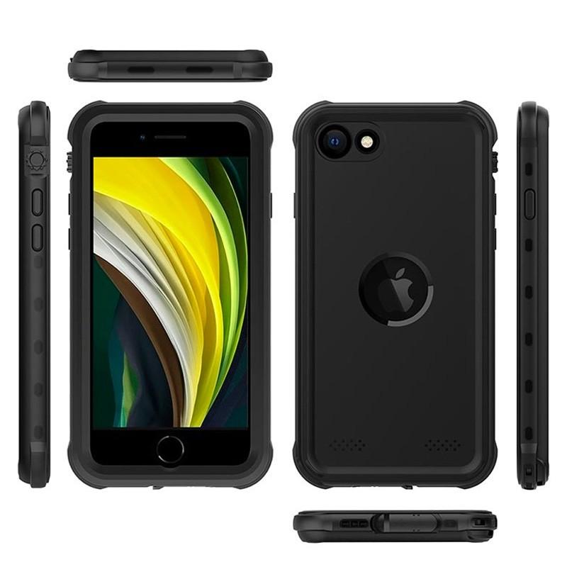Mobiq - Waterdicht iPhone SE (2020)/8/7 Hoesje Zwart - 2