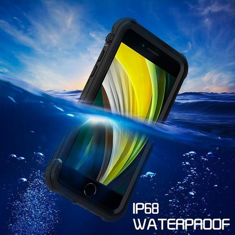 Mobiq - Waterdicht iPhone SE (2020)/8/7 Hoesje Zwart - 4