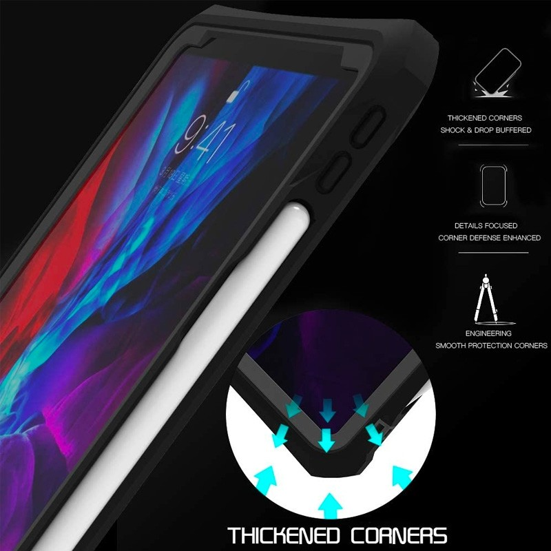 Mobiq Waterdichte Hoes iPad Pro 11 inch (2021/2020) Zwart - 6