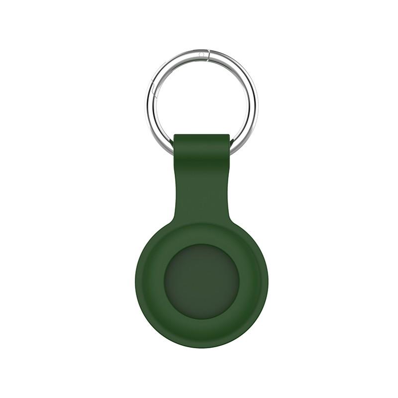 Mobiq Siliconen AirTag Hoesje met Sleutelhanger Groen 02