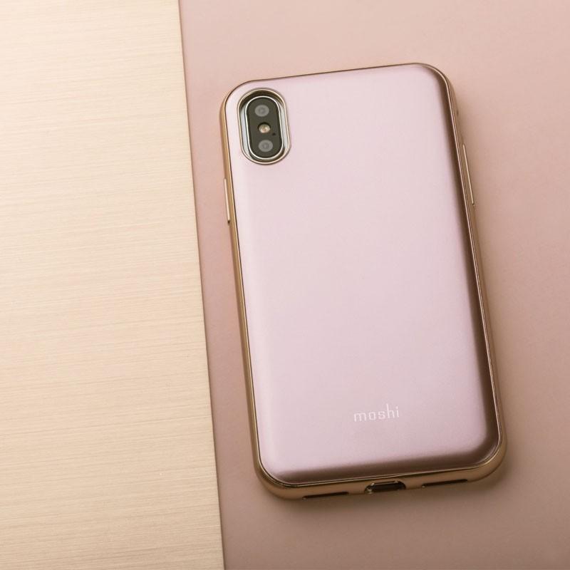 Moshi iGlaze iPhone X/Xs Taupe Pink - 7