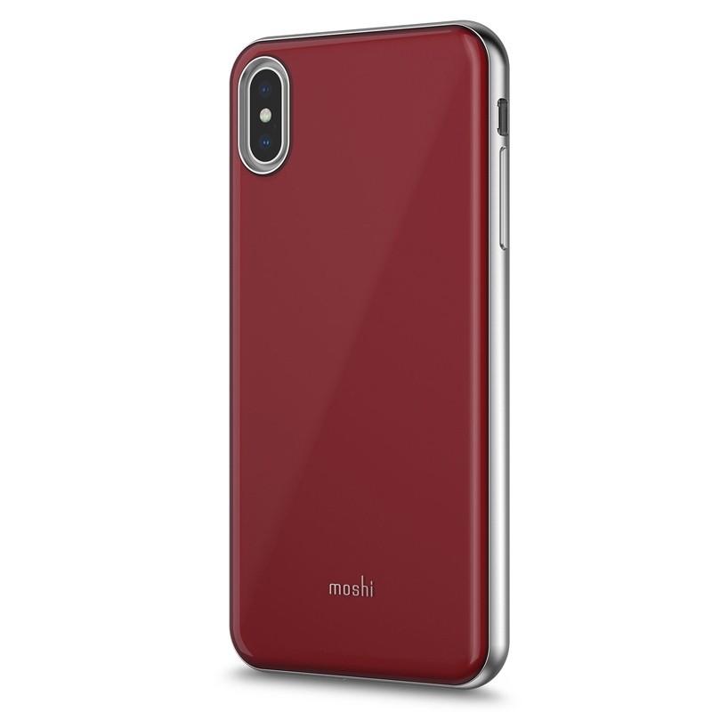 Moshi iGlaze iPhone XS Max Hoesje Merlot Rood 02
