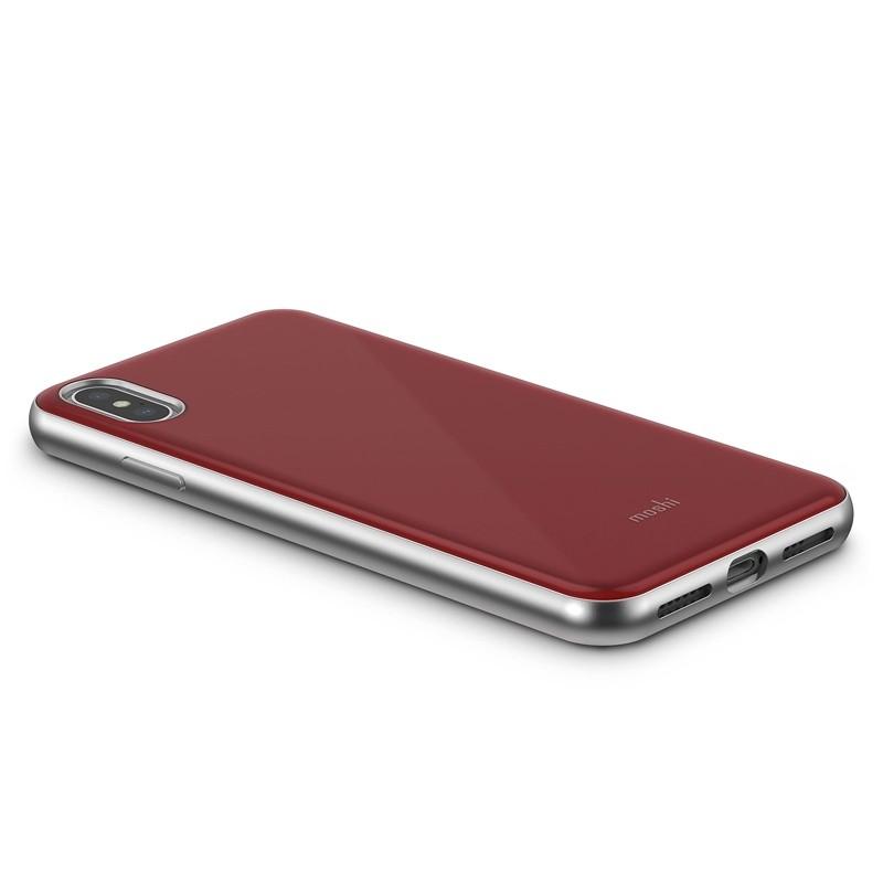 Moshi iGlaze iPhone XS Max Hoesje Merlot Rood 04
