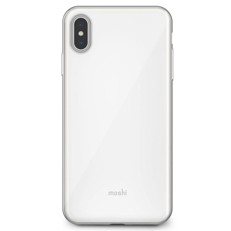 Moshi iGlaze iPhone XS Max Hoesje Pearl White 01
